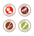 set of flat spices stamp labels 100 organic vector image vector image