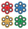 set of spinner new popular anti-stress toy vector image vector image