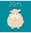sheep - symbol of 2015 vector image