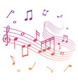 sketch of colorful musical sound wave with music vector image