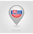 Slovakia flag pin map icon vector image