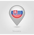 Slovakia flag pin map icon vector image vector image