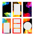 stories templates collection vector image