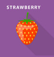 strawberry icon flat style vector image vector image