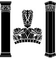 stylized ancient medieval columns vector image vector image