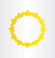 sun sunlight energy icon vector image
