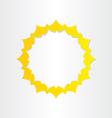 sun sunlight energy icon vector image vector image
