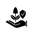 sustainable agriculture black glyph icon