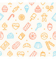 sweets and bakery pattern background vector image