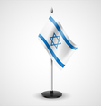 Table flag of Israel vector image vector image