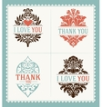 Thank You and I Love You messages Greeting Cards vector image