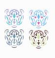 tribal polar bear vector image vector image