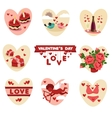 Valentines flat icons vector image