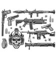 vintage military and army elements set vector image vector image