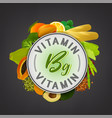 vitamin stamp banner vector image
