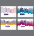 wavy lines fluid abstract backgrounds set 3d vector image