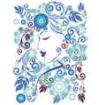 Winter Girl with Floral3 vector image vector image