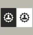 management consulting - icon vector image