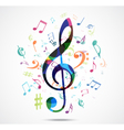 Abstract background Colorful music notes vector image