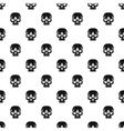 Human skull pattern simple style vector image
