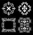 wine ornaments vector image