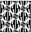 Seamless pattern of striped circles optical vector image