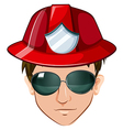 A head of a fire marshall vector image vector image
