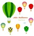 air balloons set retro vector image