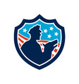American Security Guard With Police Dog Shield vector image vector image