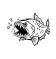 angry fish vector image vector image