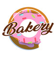 bakery donuts and desserts white background vector image