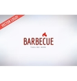 Barbecue and Food Logo Outdoor Kitchen or vector image vector image