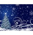 beautiful christmas new year card vector image vector image