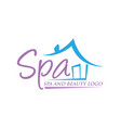 beauty and spa logo vector image vector image