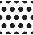 big black polka dots seamless pattern vector image