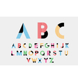 Black alphabetic font vector image vector image