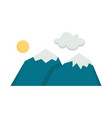 camping mountain color icon design sign vector image