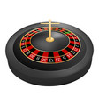 casino roulette red black mockup realistic style vector image vector image