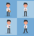 character flat design people and business concept vector image