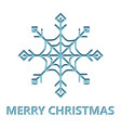 christmas card with snowflake cut from paper vector image vector image