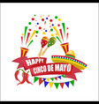 cinco de mayo an inscription with a wish of vector image vector image