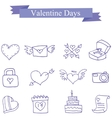 Collection valentine day icons vector image vector image