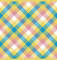 colored check plaid seamless pattern vector image vector image