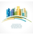 Colorful city real estate and skyline background vector image