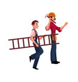 construction worker builder in jumpsuit going vector image vector image