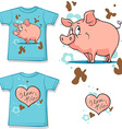 cute bunny with heart shirt vector image vector image