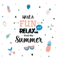 Cute Hello Summer Poster vector image