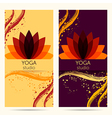 design template for yoga studio vector image vector image