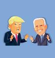 donald trump versus joe biden editorial vector image