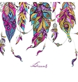 Ethnic Feathers Sketch vector image